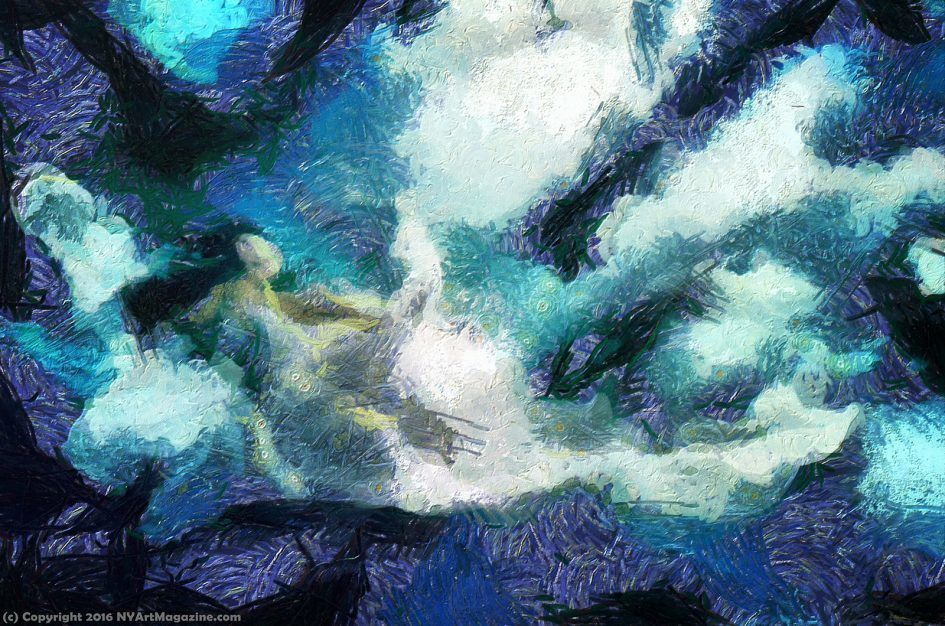 Abstract Underwater Oil Painting