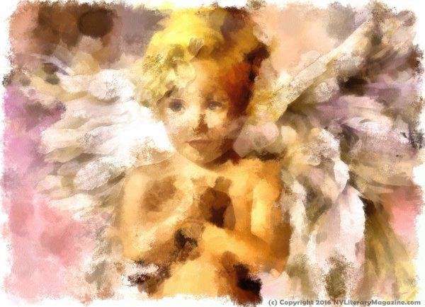 Little Angel Painting by NY Literary Magazine