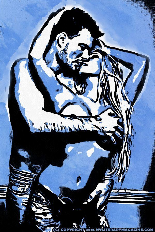 Sexy Couple Making Out Illustration