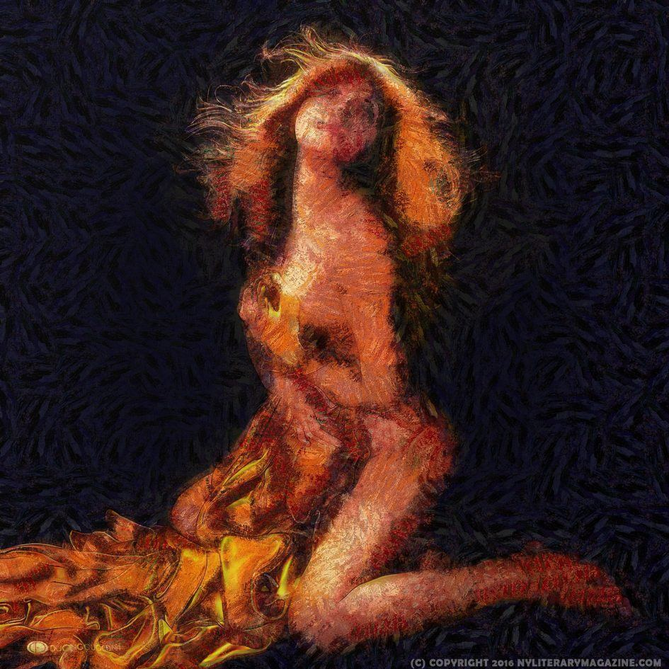 Woman Undressing Painting