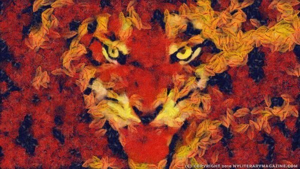 Flaming Tiger Painting
