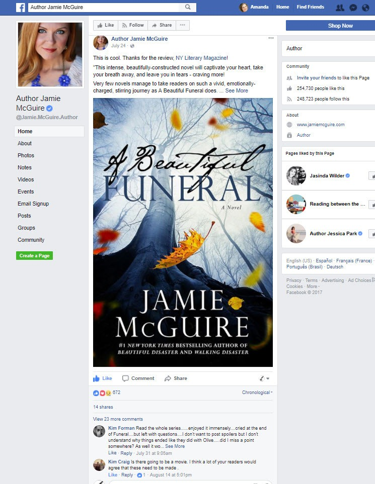 #1 Bestselling Author Jamie McGuire Editorial Review