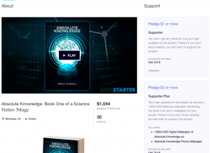 Book Crowdfunding Campaign Absolute Knowledge Example