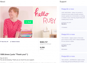 Book Crowdfunding Campaign Example, Hello Ruby