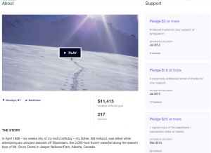 Book Crowdfunding Campaign Example, Spindrift