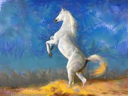 White horse Painting Modern Poetry
